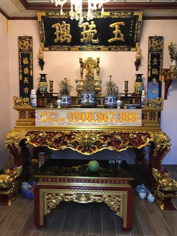Mẫu gian thờ phòng thờ đẹp .