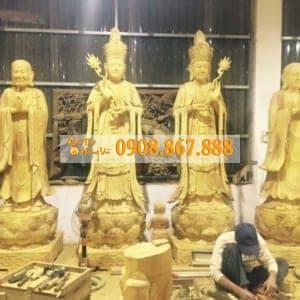 Tượng Phật Đẹp Gỗ Mít