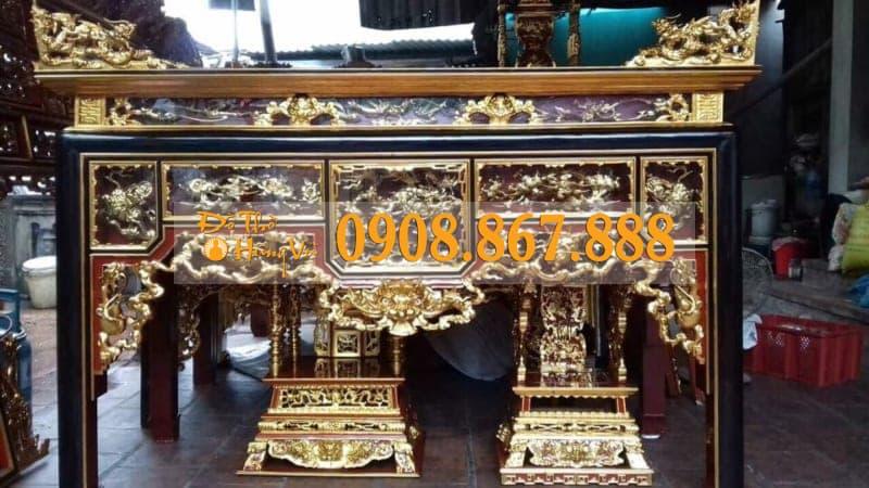 bàn thờ ô xa sơn son thếp vàng