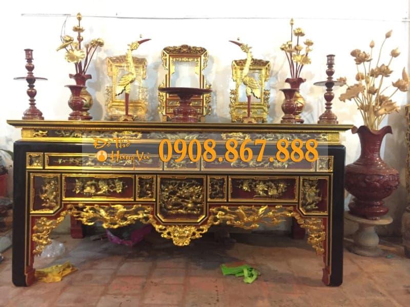 bàn thờ ô xa thếp vàng