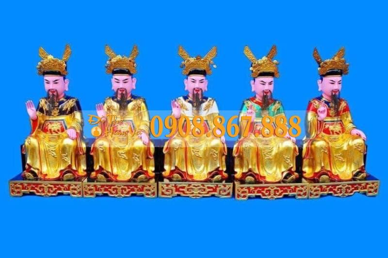 Tượng Ngũ Vị Tôn Quan Sơn Son Thếp Vàng