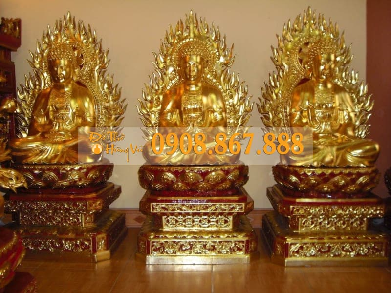 Tượng Tam Thế Phật 04