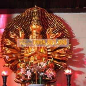 Mẫu Tượng Phật Bà Quan Âm Thiên Thủ Thiên Nhãn , Mẫu Tượng Phật Bà Quan Âm Thiên Thủ Thiên Nhãn Gỗ Mít Sơn Son Thếp Vàng Đẹp Nhất