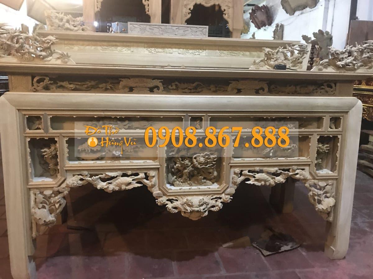bàn thờ ô xa gỗ dổi