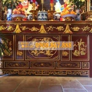 mẫu bàn thờ chấp tải tại chùa