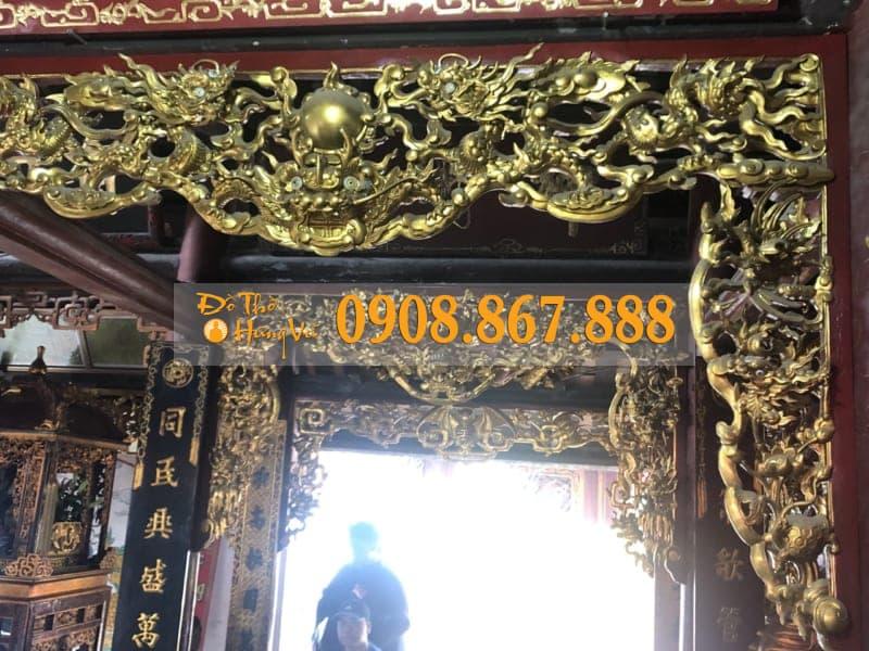 Mẫu Cửa Võng Tứ Linh Sơn Son Thếp Vàng Đẹp .