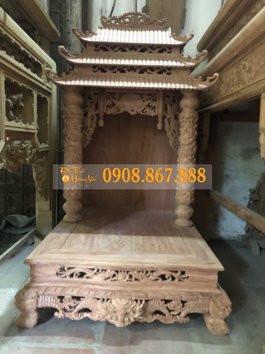 bàn thần tài gỗ hương