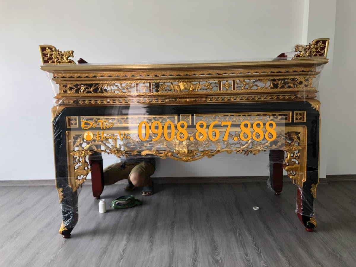 bàn thờ án gian sơn son thếp vàng