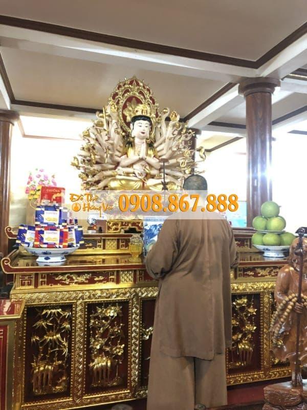 tượng phật bà dát vàng 9999