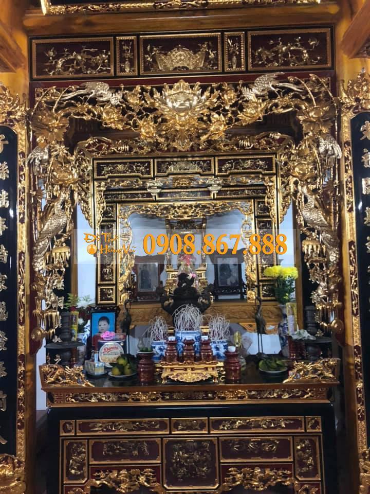 Mẫu Cửa Võng Hồng Trĩ Sơn Son Thếp Vàng