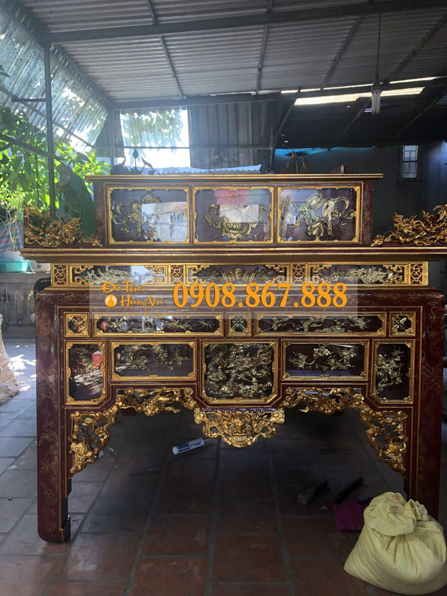 bàn thờ ô xa gỗ mít