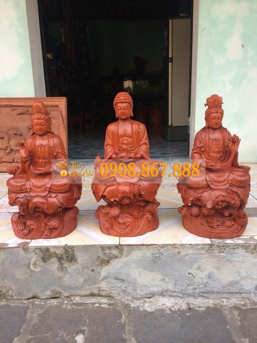 tượng phật a di đà gỗ hương