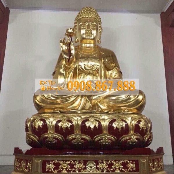 Tượng Phật Thích Ca Mâu Ni Gỗ Mít .