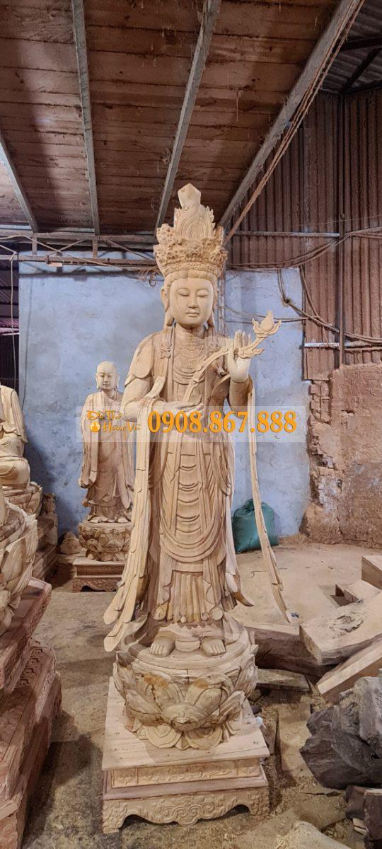 tượng phật gỗ mít
