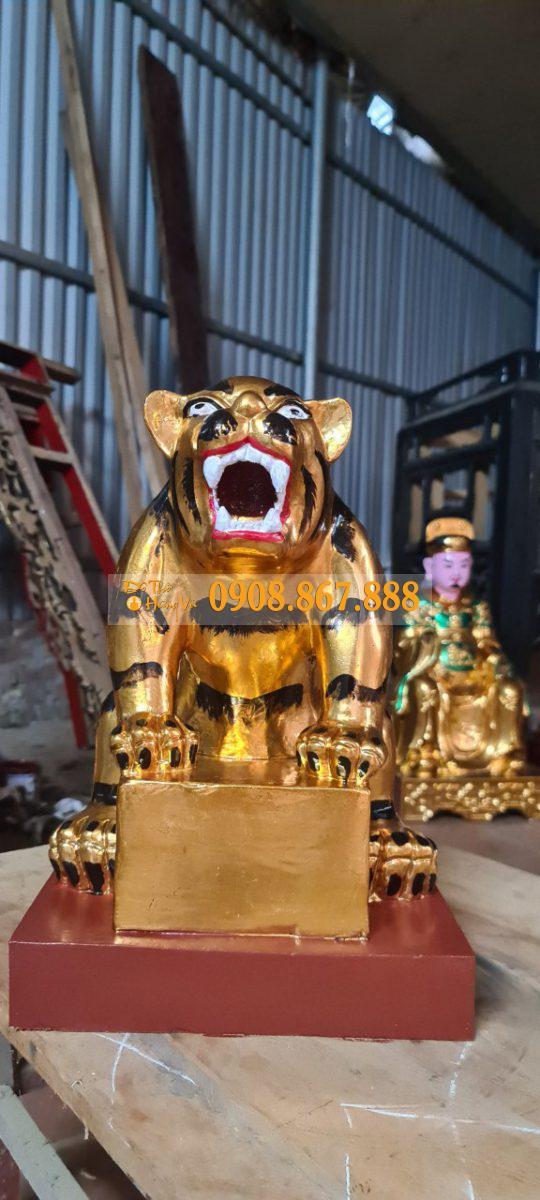 Tượng Ngũ Hổ Sơn Son Thếp Vàng .