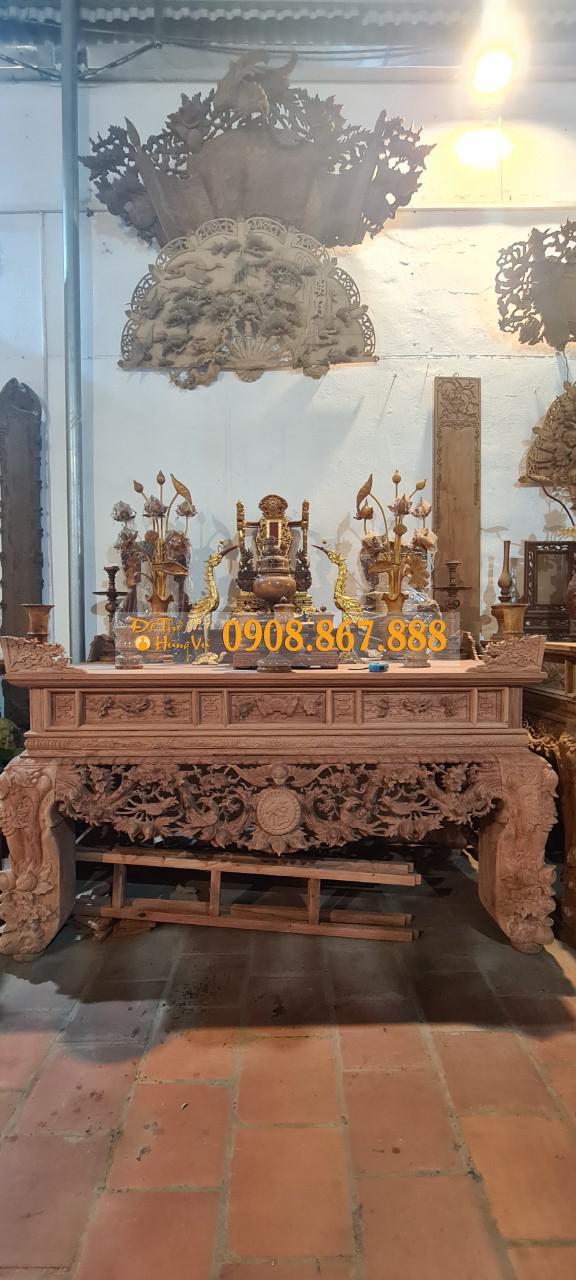 sập thờ gỗ hương đá