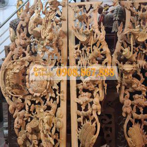 Cửa Võng Tứ Linh Gỗ Mít